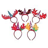 5pcs accessori per capelli fatti a mano animale della fascia dell'unicorno dei bambini per il gioco del partito di compleanno