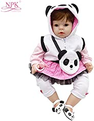 Anself 20in Reborn Baby Rebirth Doll Kids Gift Cloth Material Body