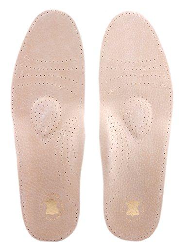 Die Schuhanzieher Leder Fußbett - mit Pelotte - Mittelfußstütze - Fersenpolster und Aktivkohle z1001(42)