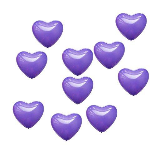 MagiDeal 10 Piezas Globos en Forma de Corazón Látex para Boda Fiesta de Casamiento Decoración de Casa - Morado