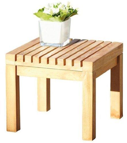 Jan kurtz nice tabouret/table d'appoint en bois de teck massif &492875 intérieur/extérieur