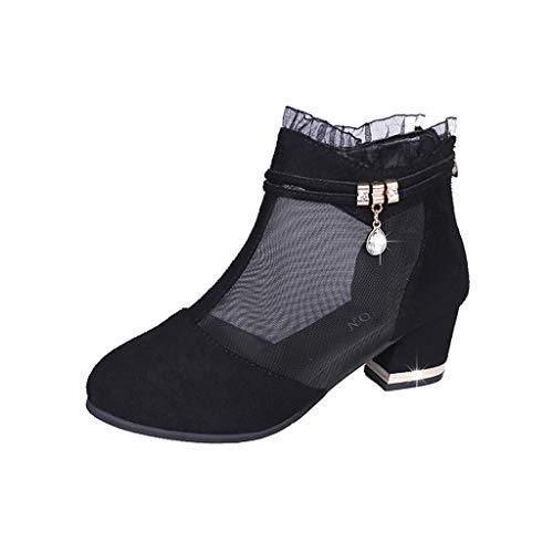 Suede Stiletto Heel (BIKETAFUWY Hausschuhe Damen Sommer High Heels Sexy Peep Shoes Platform Boots Slip High Heels Peep Toe Plateau Pumps Stiletto Hochzeitsschuhe)