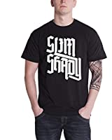 Eminem Herren T Shirt Schwarz Slim Shady letter logo offiziell