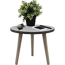 Holztisch Rund 39x32cm Beistelltisch Wohnzimmertisch Couchtisch Blumentisch Kaffeetisch Aus Holz