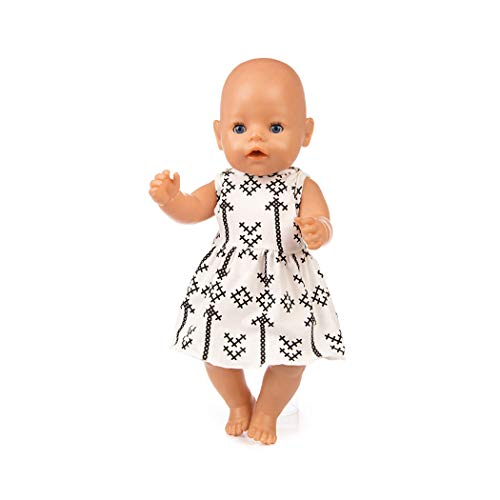 Zolimx Schön Puppe Kleid Baby,18 Zoll Amerikanische Puppe Zubehör Mädchen Spielzeug Sommerkleidung Kleid