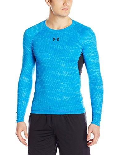 under-armour-t-shirt-de-compression-manches-longues-homme-electric-blue-fr-l-taille-fabricant-lg