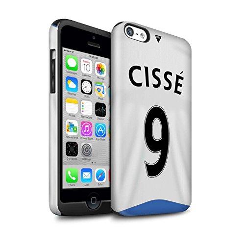 Offiziell Newcastle United FC Hülle / Glanz Harten Stoßfest Case für Apple iPhone 5C / Pack 29pcs Muster / NUFC Trikot Home 15/16 Kollektion Cissé
