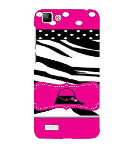 PrintVisa Animal Print Girly Design 3D Hard Polycarbonate Designer Back Case Cover for Vivo V1