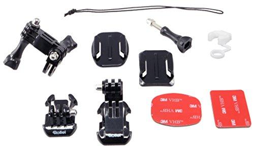 Rollei Zubehör Set - Accessories für Rollei Actioncam 200 / 300 / 400 und 500 Serie und GoPro Hero Modelle - Schwarz