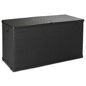 TOOMAX Auflagenbox Kissenbox 420 L Rattan, Anthrazit, 120 x 57 x 63 cm