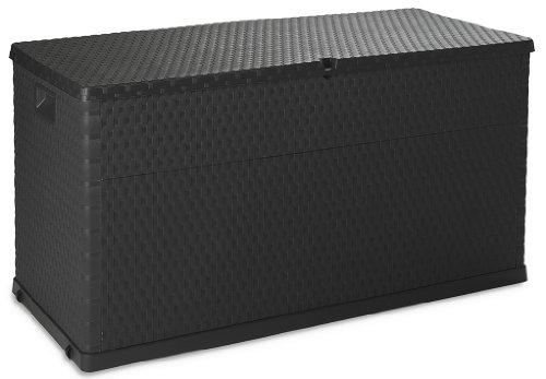 gartenbox polyrattan TOOMAX Auflagenbox Kissenbox 420 L Rattan, Anthrazit, 120 x 57 x 63 cm