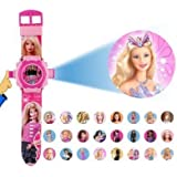 barbie projector watch with 24 images for kids- Multi color