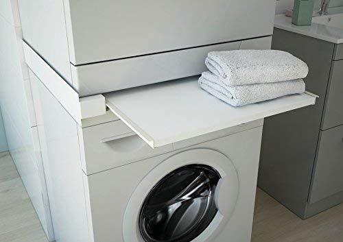 respekta Waschmaschine Zwischenboden Trockner Ablagefach weiß ausziehbar