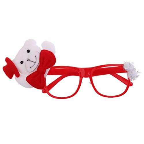 Sharplace Weihnachten Auge Gläser Party Plastik Kostüm Brillen für Weihnachten - Bär