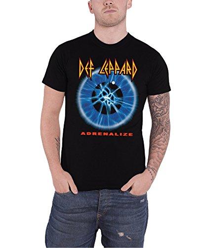 Def Leppard Adrenalize offiziell Herren Nue Schwarz T Shirt