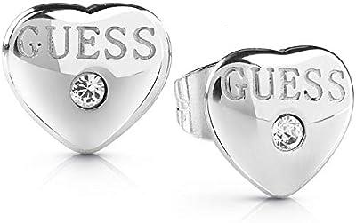 Guess Pendientes de botón Mujer chapado en plata - UBE28076