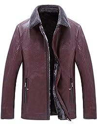 QQ2MM Homme Hiver Haute Qualité Chaud Cuir Veste Outdoor Casual Blousons  Manteaux Cachemire Épaissir Doublure Men s 89f5d37d7dd