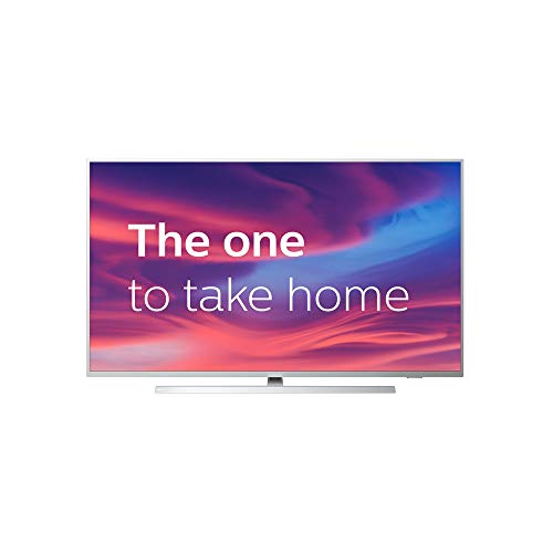 Philips Ambilight 43PUS7304/12 Fernseher 108 cm (43 Zoll) Smart TV (4K, LED TV, HDR 10+, Android TV, Google Assistant, Alexa kompatibel, Dolby Atmos) Hellsilber Philips Tv