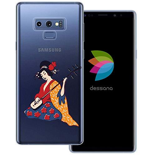 dessana Geisha Japan Transparente Schutzhülle Handy Case Cover Tasche für Samsung Galaxy Note 9 Shamisen Instrument