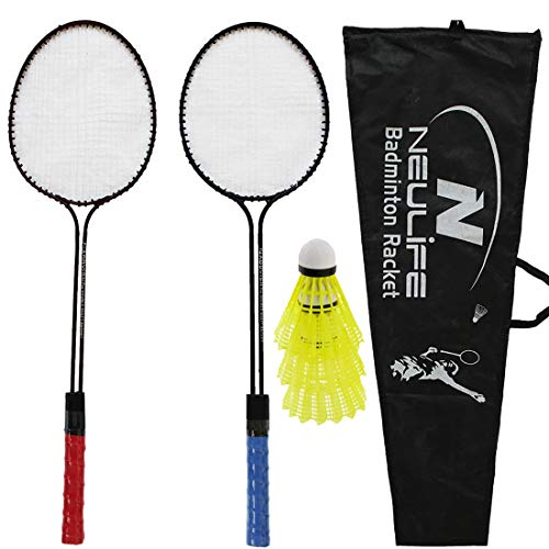 9. Neulife Badminton Racket with 3 Shuttlecock