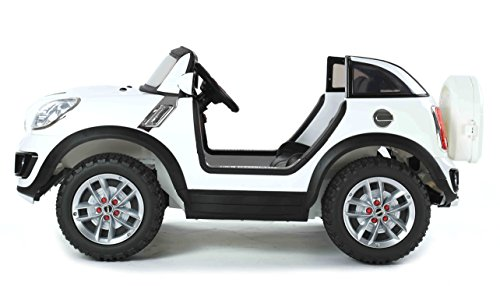 Image of Electric Ride-On Toy Car MINI Beachcomber, 2 X MOTOR, two-seater, White, original license