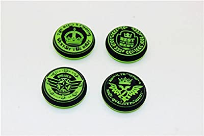 Thumbstick Grips for PS4 XBOX WII U Switch - Caps for all Controllers - Crown Green