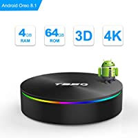 Android TV Box, Android Box 8.1 S905X2 Quad-core Cortex-A53 with 4GB RAM 64GB ROM Support 2.4G/5G WiFi/H.265 Decoding/4K Full HD Output/ HDMI2.0/ 100M Ethernet/ Bluetooth 4.1 Smart TV Box