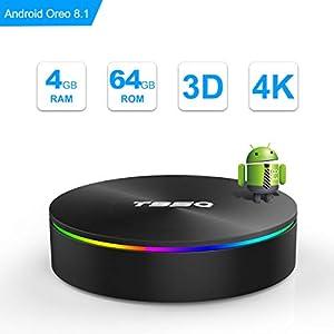 smarttv: SIDIWEN T95Q Android 8.1 TV Box con 4GB RAM 64GB ROM Amlogic S905X2 Bluetooth4.1...