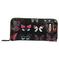 Roche Butterfly Zip Around Wallet - SwankySwans (Glitter Black)