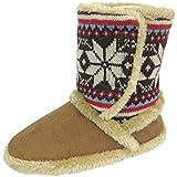 Coolers 078 Mujer Gamuza Sintética de Punto Nórdico Botas Zapatillas