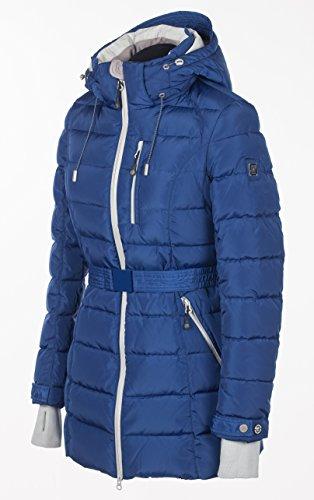 Q311 Damen Daunenjacke SNOWIMAGE mit Kapuze Parka Sportjacke Wintermantel Royalblau