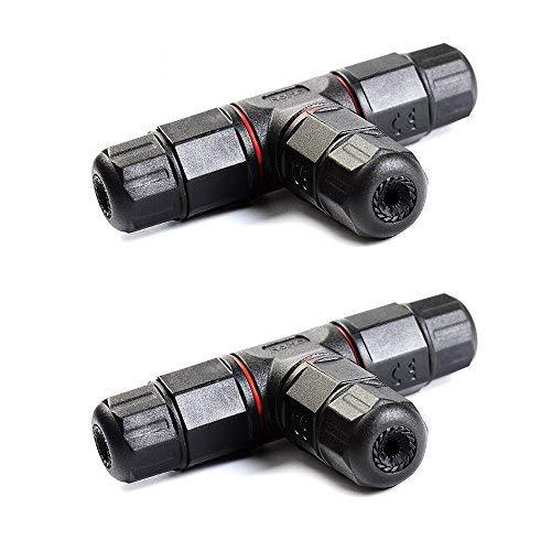 3-Wege-Abzweigmuffe, Kabelverbinder, wasserdicht, für den Außenbereich, Muffe mit 5-10 mm Durchmesser, 2 Stück Cell Pack