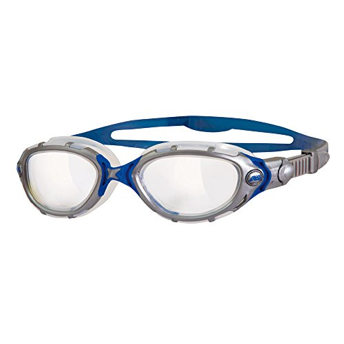 Zoggs Schwimmbrille Predator Flex, Grey/Blue, OS, 313848