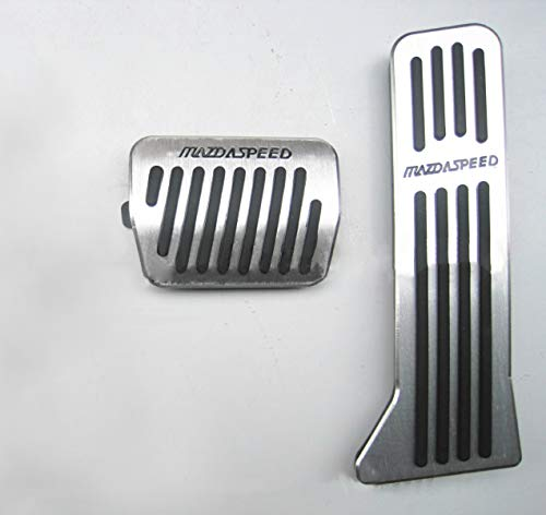 Für CX-3 CX-4 CX-5 Auto Bremse Gaspedal Pedalabdeckung Pedalkappe Pedalset Edelstahl PPE-Gleitschutz AT zwei