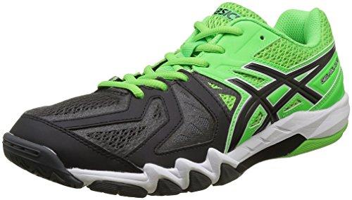ASICS Herren Gel-Blade 5 Handballschuhe, Mehrfarbig (Green Gecko/Black/Dark Grey), 44 EU