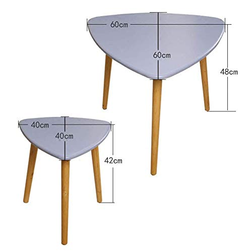 HYLH Side Tables,Tables Coffee Tables Round Side Tables Modern End Tables Occasional Tea Tables Nesting Tables for Balcony and Living Room Set of 2 Gray -