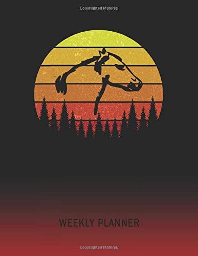 Weekly Planner: Molumen Horse Head | 2020 - 2021 | Plan Weeks for 1 Year | Retro Vintage Sunset Cover | January 20 - December 20 | Planning Organizer ... | Plan Days, Set Goals & Get Stuff Done -