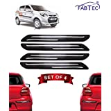 Fabtec Bumper Protector Guard for Maruti Alto 800 (Set of 4) Black (Double Chrome Strip)
