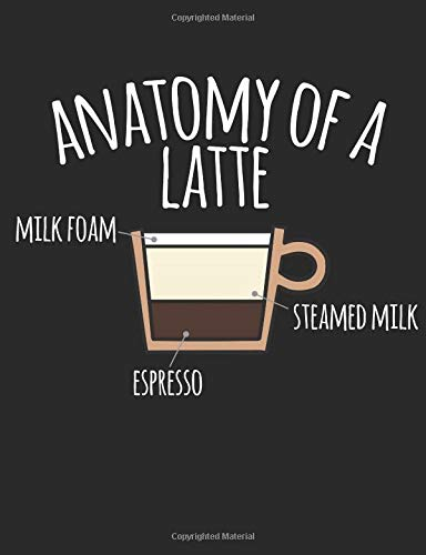 Anatomy Of A Latte: A Cool Composition Notebook For Coffee Lovers
