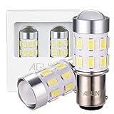 AGLINT 2X Ampoule 1157 LED 24SMD Extremadamente Brillante BY15D Feux Arrière Voiture DRL Feu Recul Frein Lampe Blanc 6000K 12V 24V