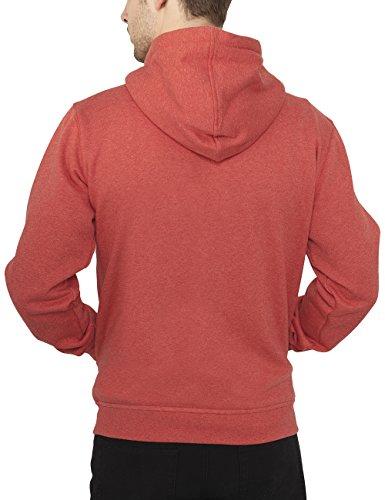 Urban Classics Herren Jacke Jacke Melange Zip Hoody Red
