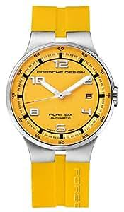 Porsche Design Flat Six Automatic Stainless Steel Mens Yellow Watch Calendar 6351.41.94.1257