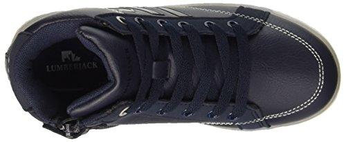 Lumberjack Glow, Baskets Hautes Garçon Blu (Cc001 Navy Blue)