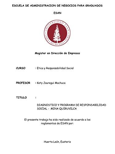 Diagnostico y Programa de Responsabilidad Social en Mineria por Eusterio Valentín Huerta León