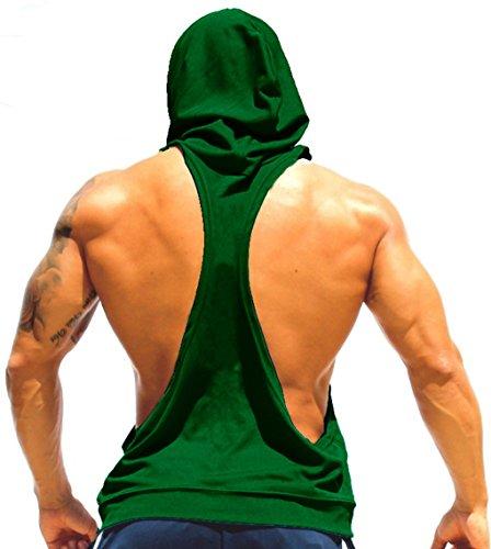 LemonGirl Herren Sport T-Shirt Sweatshirt Hood West Tank Top mit Kapuze Weste Ärmellos Kapuzenshirt Fitness Gym Joggen (Uniform Navy Kleid)
