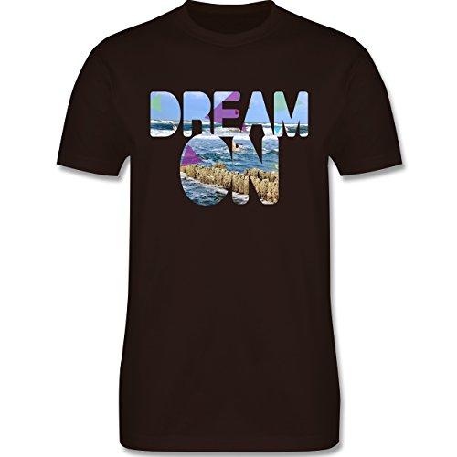 Statement Shirts - Dream On Strand Meer - Herren Premium T-Shirt Braun