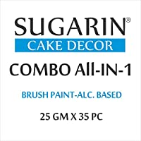 Sugarin Combo All-in-1 Brush Paint, 25gm x 35pc