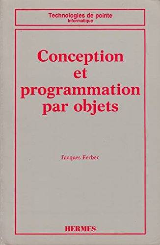 Conception et programmation par objets