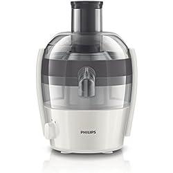 Philips HR1832/30 Viva Collection Entsafter 400 W, 1,5 L in einem Durchgang, schnelle Reinigung, grau / weiß
