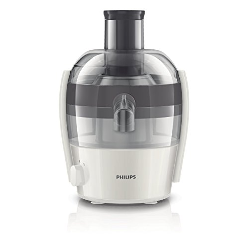 Philips HR1832/30 - Exprimidor eléctrico, 1,5 l, 500 W, color gris y blanco